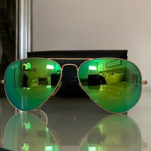 Ray-Ban Accessories - RAY-BAN Aviator Flash Lens in GREEN